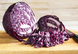 Chopped Red Cabbage on Wooden Cutting Board