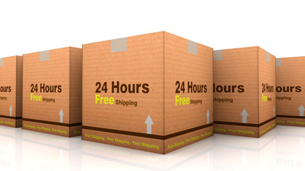 24 hours free shipping cardbox