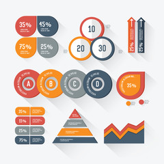 Elements of Infographic design on white background,vector