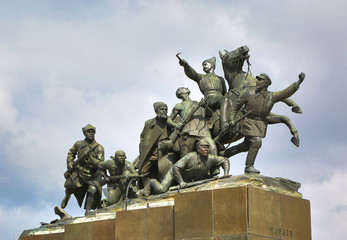 monument Chapaev and his army in Samara