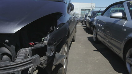 Car Pound For Vehicles Damaged In Traffic Accident