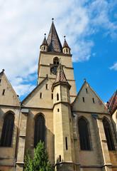 Sibiu city Romania Lutheran Cathedral
