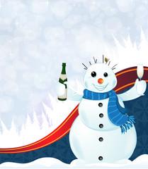 Cheerful snowman
