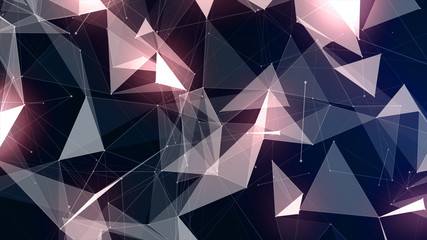 Background with geometric particles
