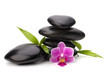Shinny pebbles balance. Spa and healthcare concept.