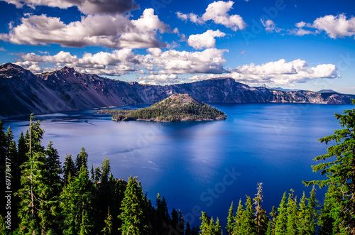 In de dag Landschap Crater Lake, Oregon