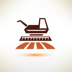 harvester symbol, agriculture concept