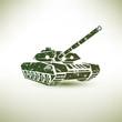 military tank symbol - 69779637