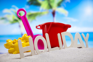 Holiday beach background