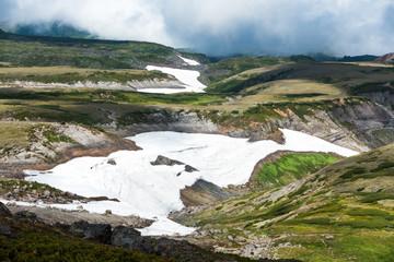 大雪山夏の雪渓