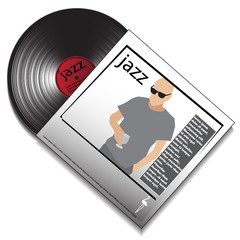music disc in the package. vector illustration