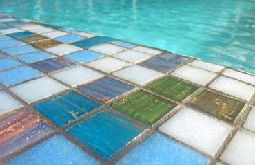 blaue Mosaikfliesen - blue mosaic  tiles