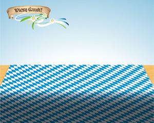 Bavaria Biertisch mit Banner