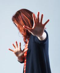 Woman defending