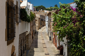 Begur Street view, Medieval town, Costa brava, Catalunya