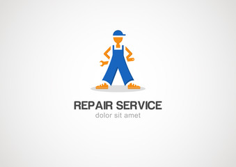 Repair and service vector logo template
