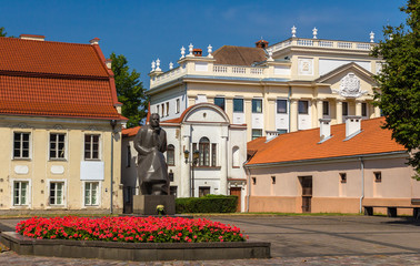 Monument to Maironis in Kaunas, Lithuania