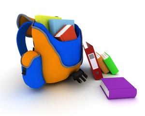 School Bag and Books