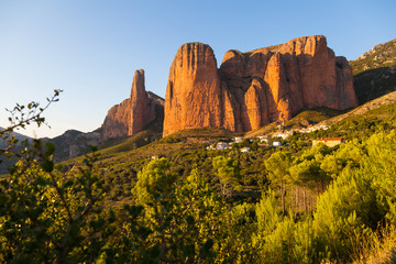 Mallos de Riglos in Huesca Aragon, Spain