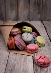 Delicate colored macaroon.