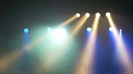 Stage lights at live concert, festival