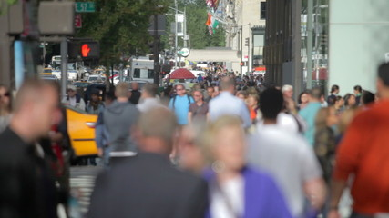 Time-lapse Sequence Of Traffic And Pedestrians On 5th Avenue