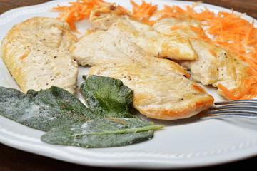 petto di pollo e carote dietetico