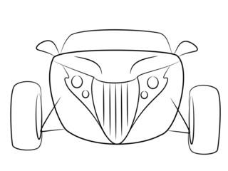 Modern Oldtimer Rod Cabrio