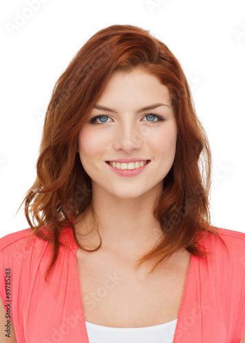 canvas print picture smiling teenage girl in casual clothes