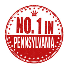 Number one in Pennsylvania stamp