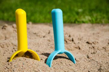 Sandbox tools closeup