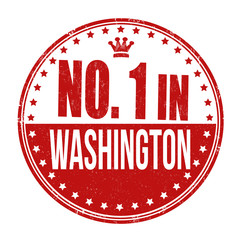 Number one in Washington stamp
