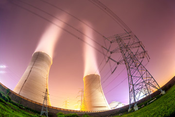 cooling towers and high voltage power