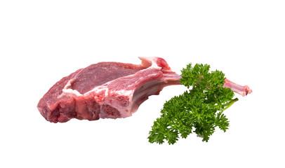 Raw lamb cutlet