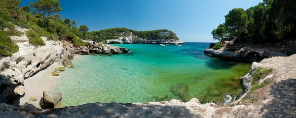 Cala Mitjaneta Beach in Menorca, Spain