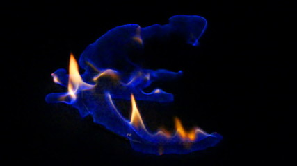 Brennendes Euro Zeichen