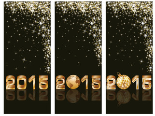 New 2015 Year banners, vector illustration