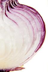 Red onion closeup