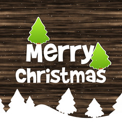 Merry Christmas Wood Texture Background