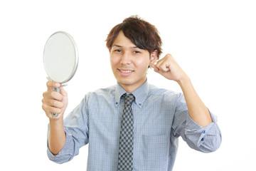 髪型を気に入る男性