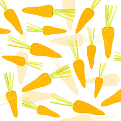 Carrot vector background