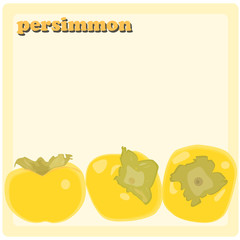 Persimmon vector background