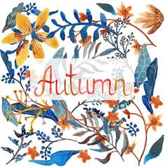 Watercolor natural pattern