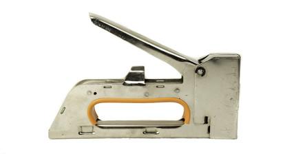 Stainless steel staple gun tacker isolated on white background