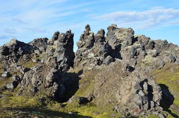 Исландия, Ландманналёйгар, лавовое поле