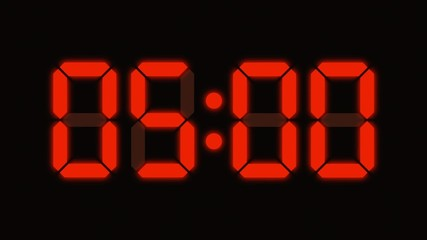 Digital clock count from zero to sixty - LED display