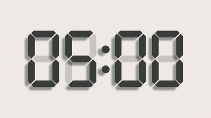 Digital clock count from zero to sixty - LCD display