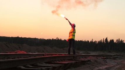 Fire signal in hand