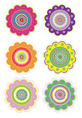 Flower pattern set