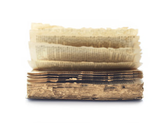 Old book ruined by termite